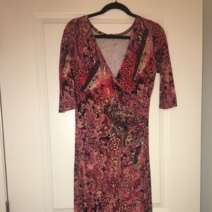 Beautiful Jersey Salaam Wrap Dress Size L